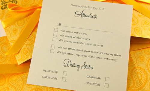 Custom Wedding Inserts