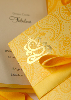 Custom Ganesh Wedding Invitations