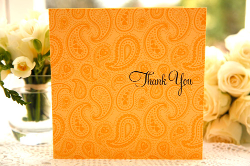 Paisley Thank You Card