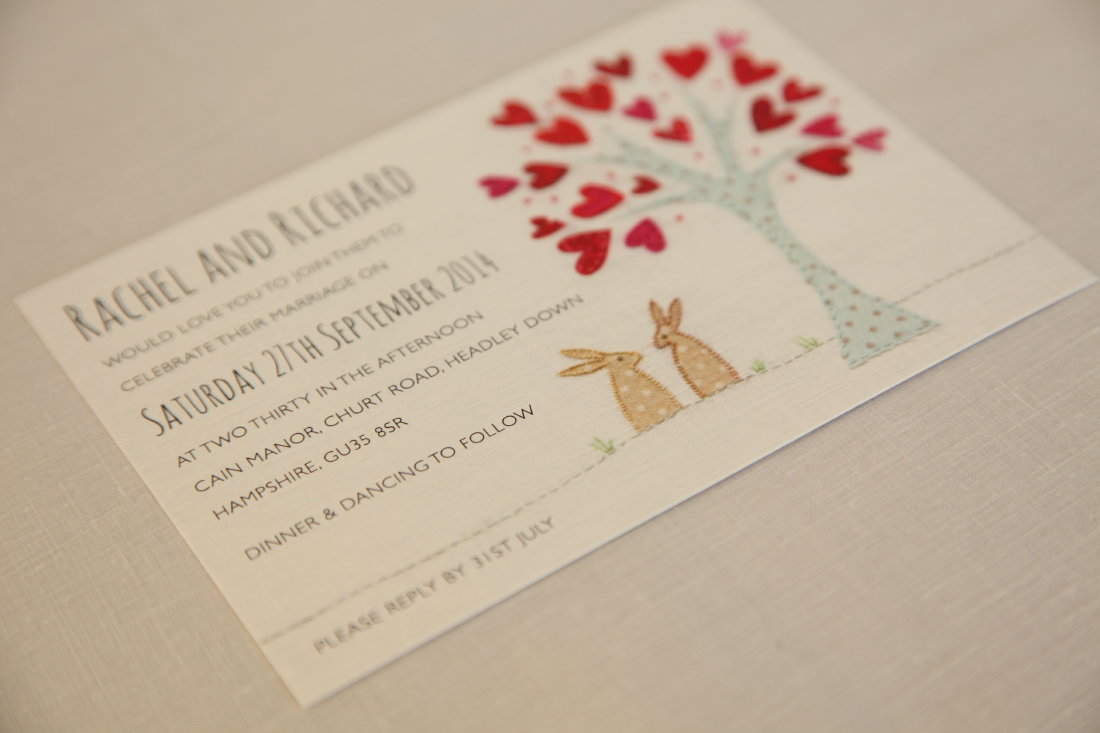 Wedding Invitations England: Introducing: Bunnies Wedding Invitation