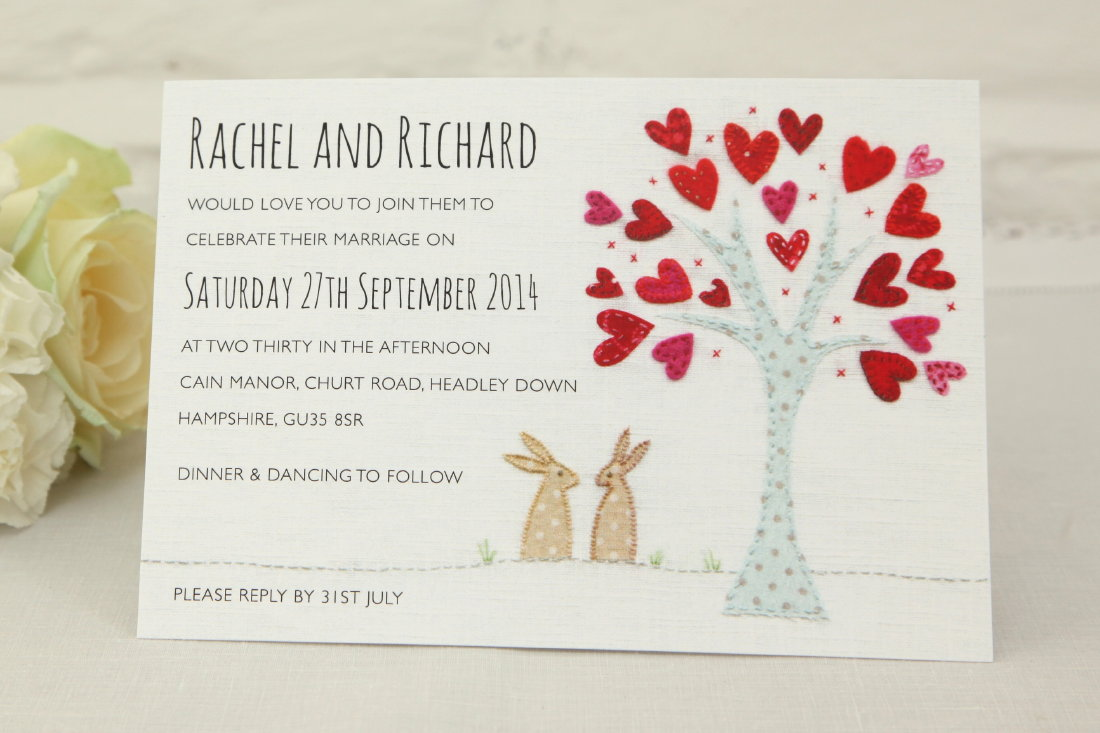 Introducing Bunnies Wedding Invitation