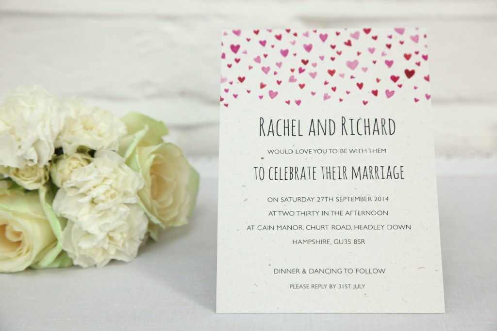 Confetti Wedding Invitations Under £2