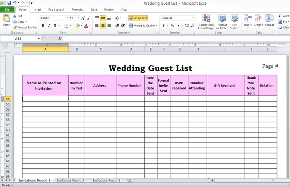 5 ways to plan your weddingivy ellen wedding invitations With wedding invitation rsvp spreadsheet