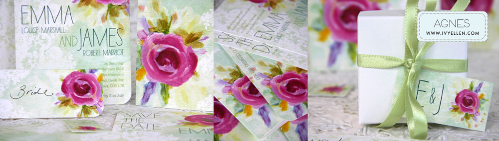 Agnes Floral Wedding Stationery