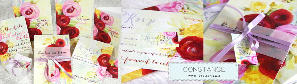 Constance Floral Wedding Stationery
