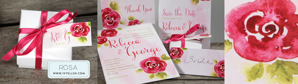 Rosa Floral Wedding Stationery