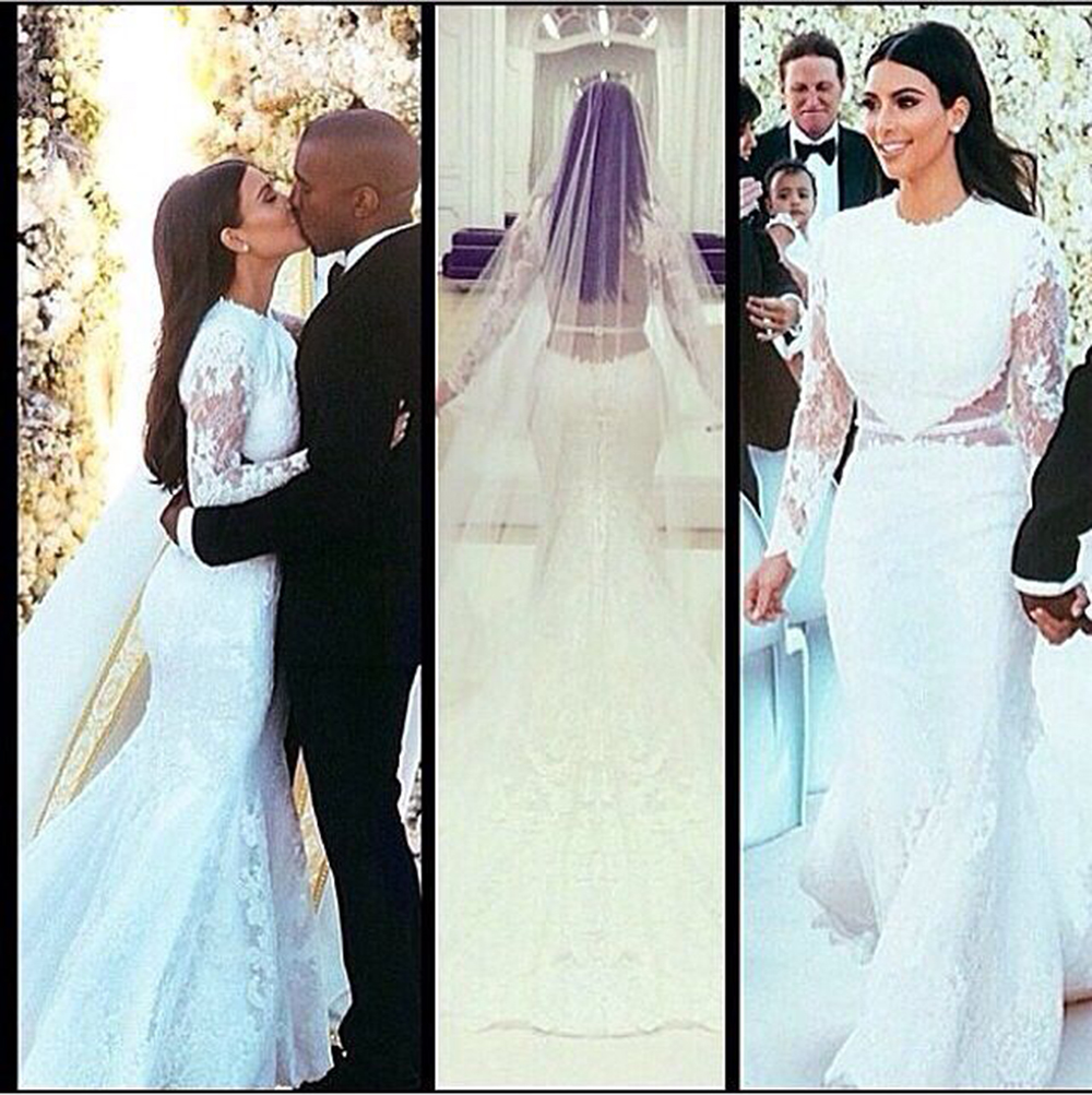 The best celebrity weddings of 2014ivy ellen wedding for Kim kardashian s wedding dress