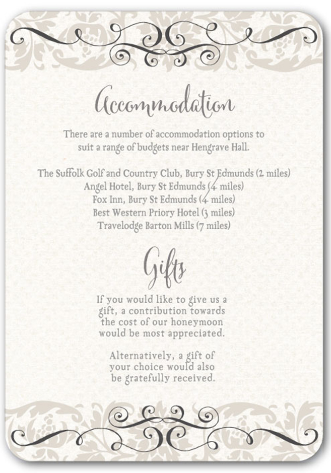 Top tips for writing your wedding information insertsivy for Wedding invitations with information inserts