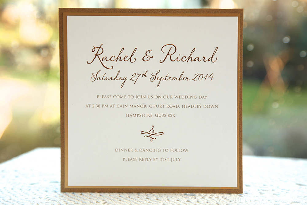 Lavinia - Traditional Wedding Invitations