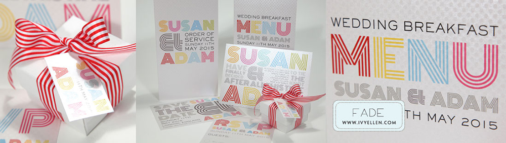 Fade Banner - Colour Pop Wedding Stationery