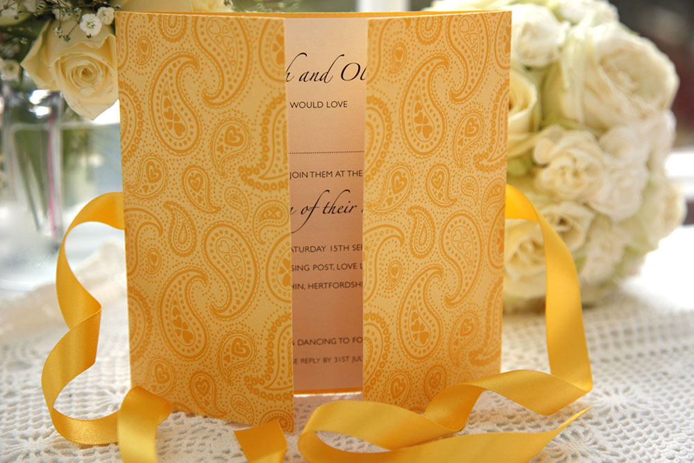 Paisley wedding invitation - Styles of Wedding Invitations