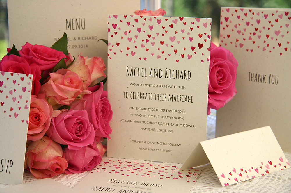 Confetti wedding invitation - Styles of Wedding Invitations