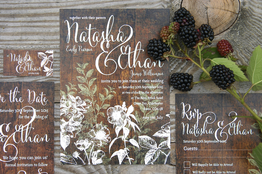autumn wedding Hedgerow wedding stationery
