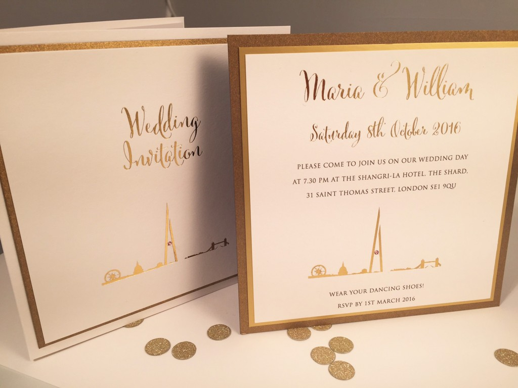 both styles - the shard wedding invitations