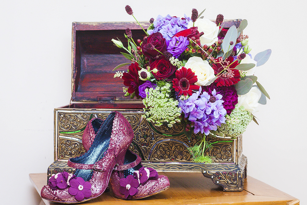 shoes and flowers - Relaxed Rustic Wedding