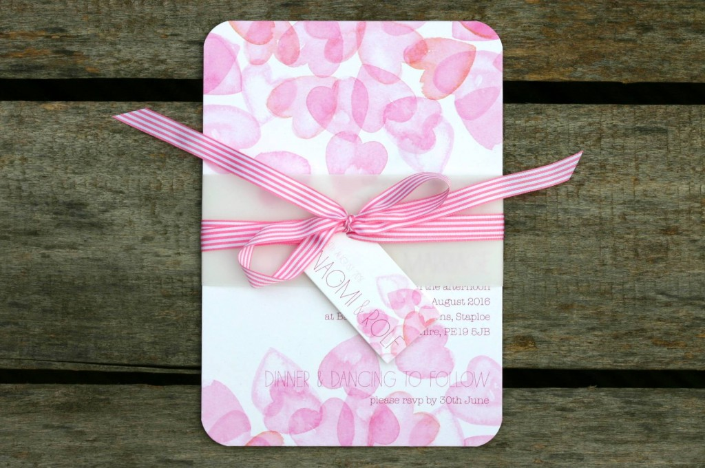 Hearts Galore - wedding invitations timeline