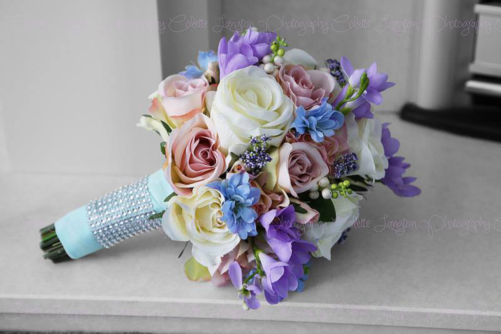 budding sesations - artificial wedding flowers