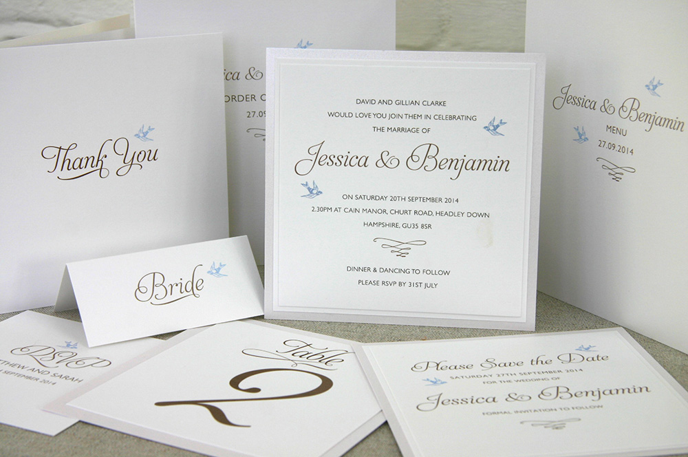 lovebirds - history of wedding invitation