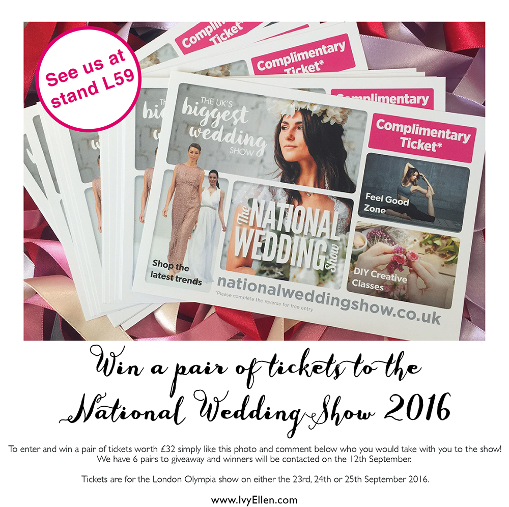 NWS COMPETITION The National Wedding Show 2016