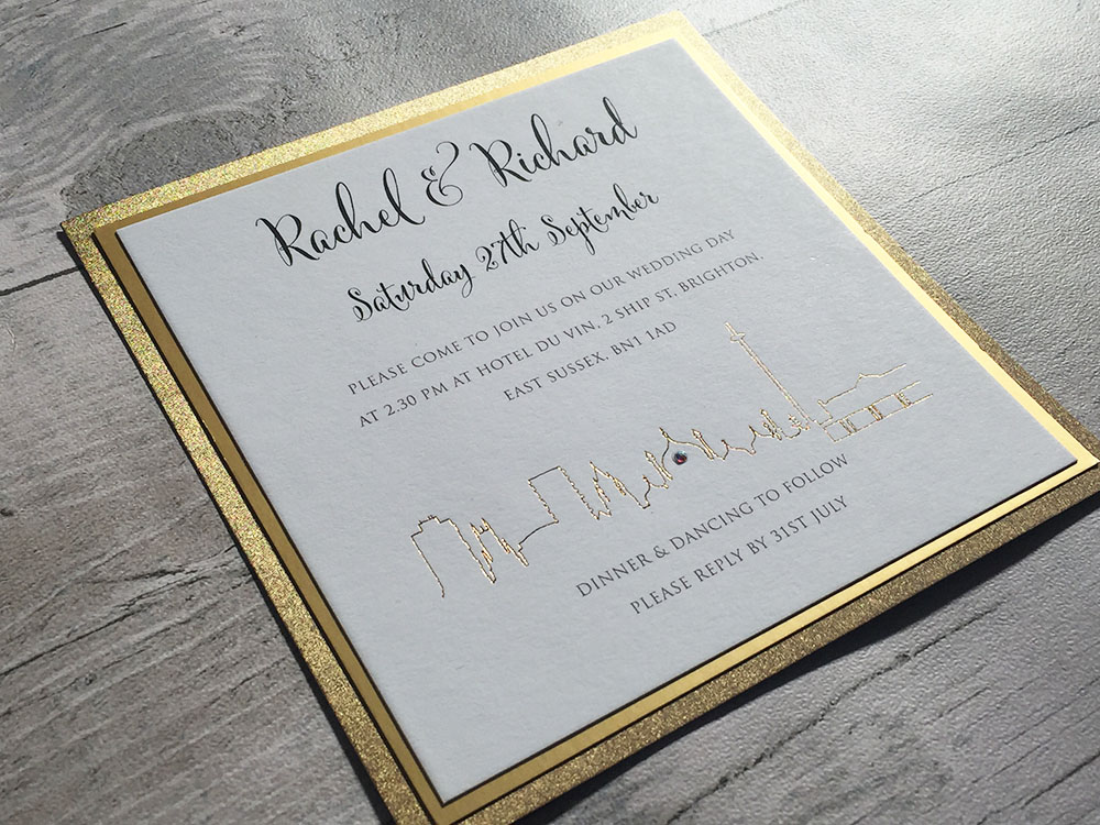 Brighton wedding invitation