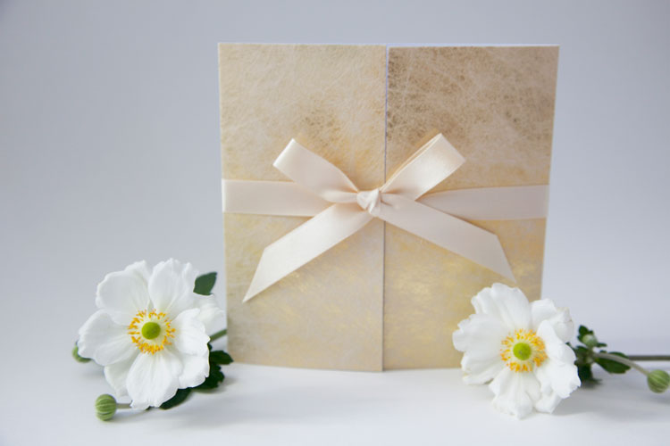 spun-gold wedding-invitation