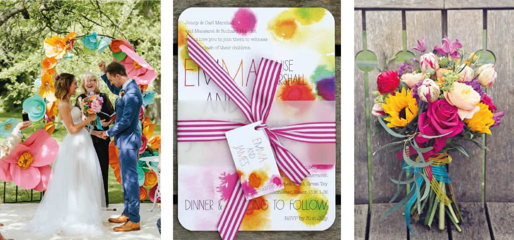 wedding trends for 2017 - bright colours