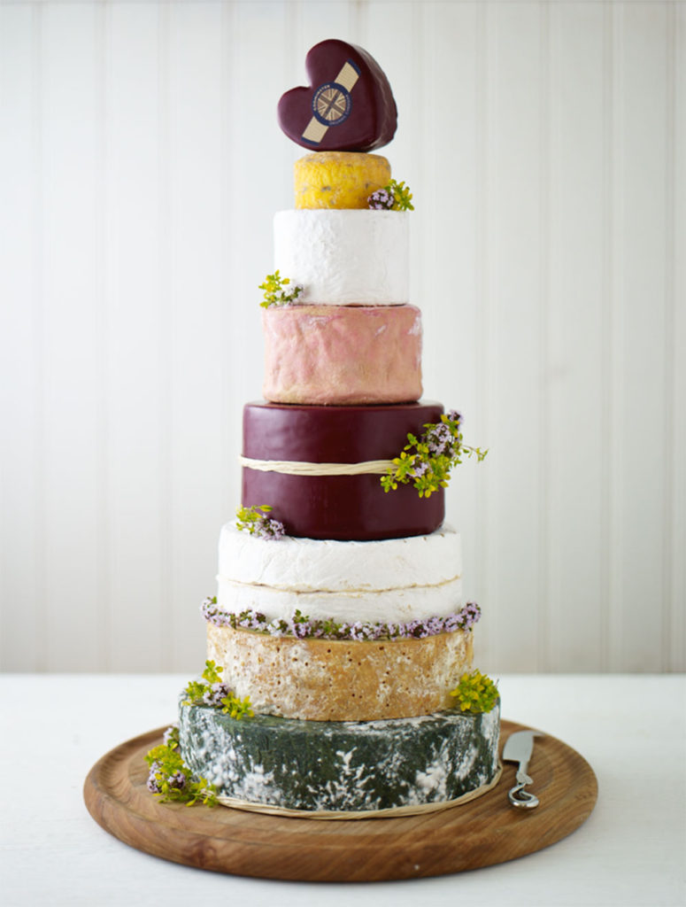 Celebration-cheese wedding cake