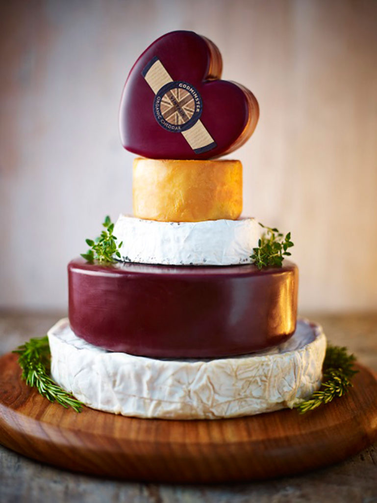 godminster-cheese wedding cake
