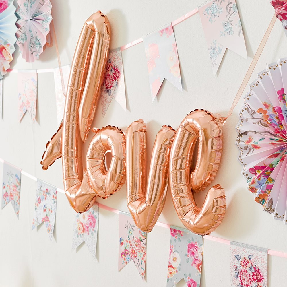 Rose-gold-love-balloon- Hen Party Accessories