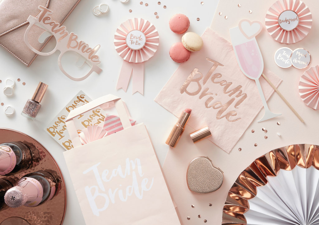 Team Bride Range Shot- Hen Party Accessories
