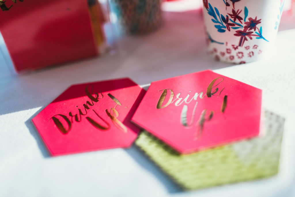 pink coasters Hen Party Accessories