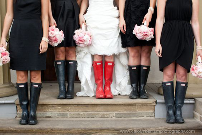 rain on your wedding day - welly boots