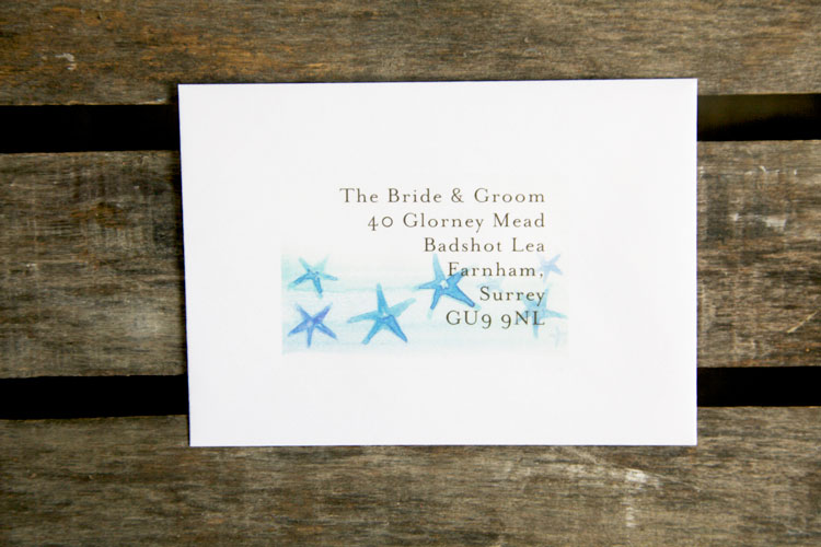wedding stationery address labels - asterias