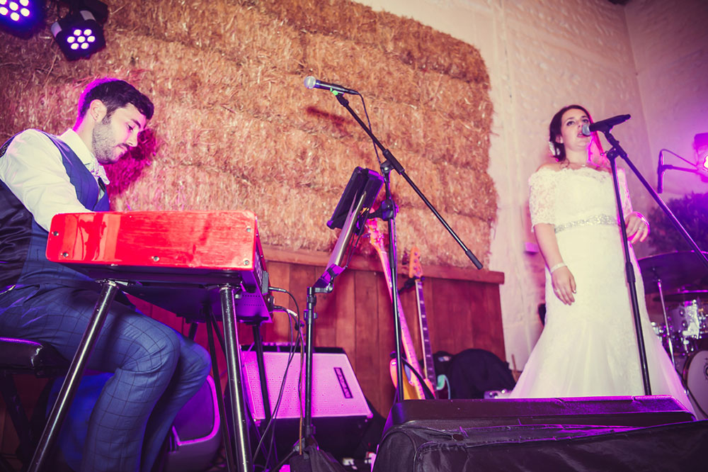 singers music themed wedding