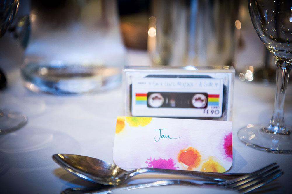 place card music themed wedding