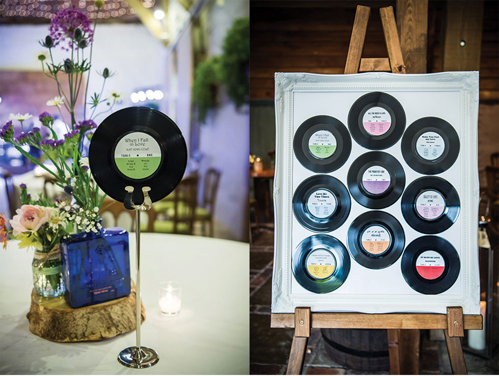 wedding stationery music themed wedding